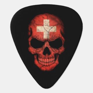 Médiators Crâne suisse de drapeau