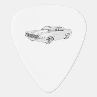 Médiators Dessin 1969 noir et blanc de Chevy Camaro