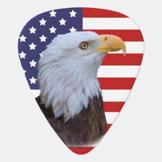 Médiators Eagle patriotique et drapeau des Etats-Unis