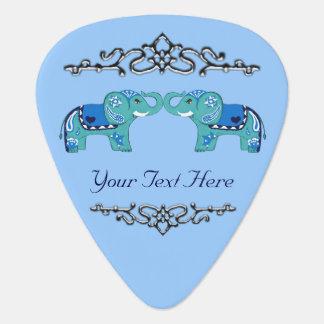Médiators Éléphant de henné (bleu/bleu-clair)