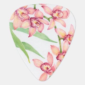 Médiators Fleurs roses d'aquarelle