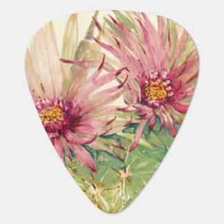 Médiators Fleurs roses de cactus