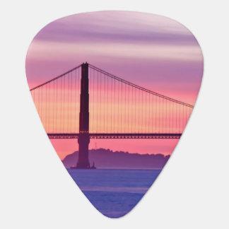 Médiators Golden gate bridge au coucher du soleil