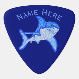 Médiators Grand animal de mer coloré bleu de requin blanc