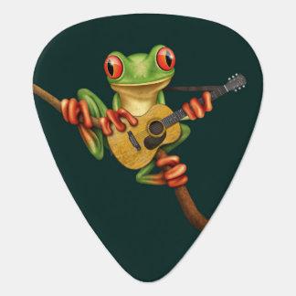 Médiators Grenouille d'arbre mignonne jouant une guitare