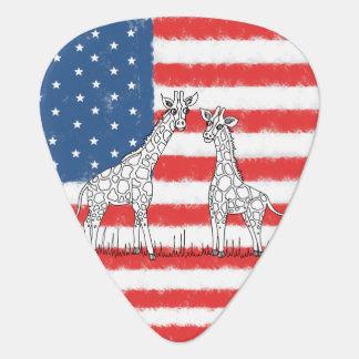 Médiators Griffonnage de conservation de girafe de drapeau