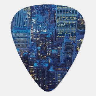 Médiators Horizon de NYC, vue courbe au crépuscule