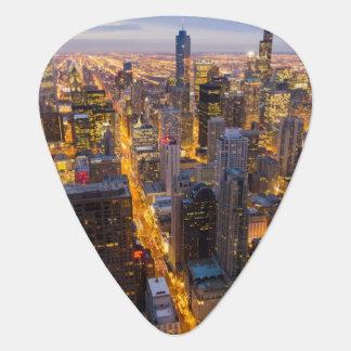 Médiators Horizon du centre de Chicago au crépuscule