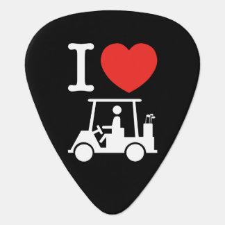 Médiators I chariot de golf de coeur (amour)