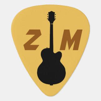 Médiators joueur de guitare/guitariste de roche