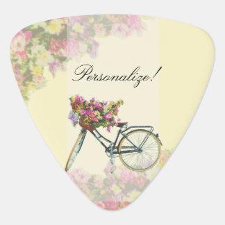 Médiators Le ressort vintage fleurit le vélo