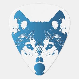Médiators Loup de bleu glacier d'illustration
