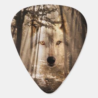 Médiators Loup d'esprit en bois