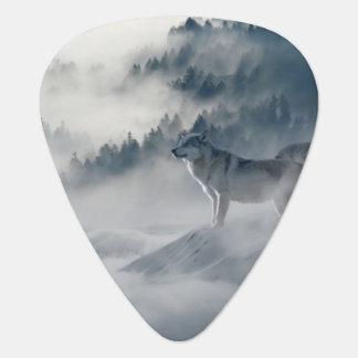 Médiators Loups dans l'onglet de guitare d'hiver