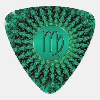 Médiators Mandala vert de fractale de Vierge de signe de