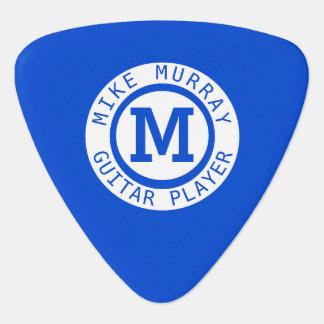 Médiators monogramme bleu