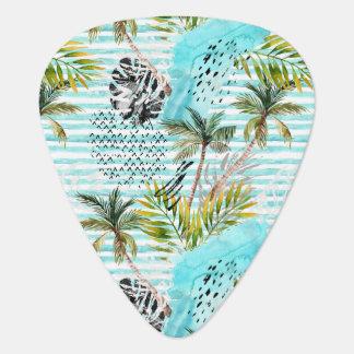 Médiators Motif abstrait de palmier d'aquarelle