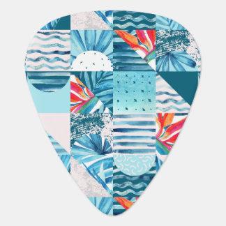Médiators Motif abstrait géométrique turquoise tropical