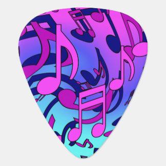 Médiators Motif coloré expressif de musique de notes
