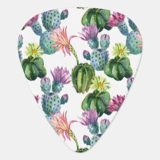 Médiators Motif d'art de cactus d'aquarelle