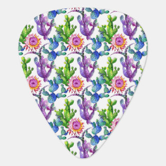 Médiators Motif de cactus de fleur sauvage d'aquarelle