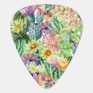 Médiators Motif de floraison exotique de cactus d'aquarelle