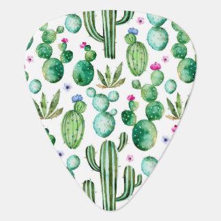 Médiators Motif d'usines de cactus d'aquarelle