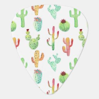 Médiators Motif en pastel d'aquarelle de cactus