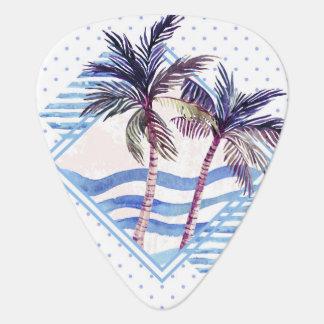Médiators Motif géométrique pourpre de palmier d'aquarelle