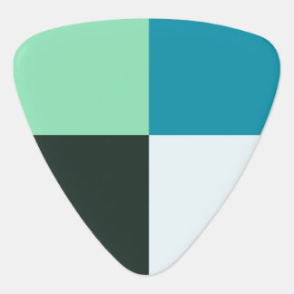 Médiators Motif moderne bleu d'Aqua vert turquoise blanc de