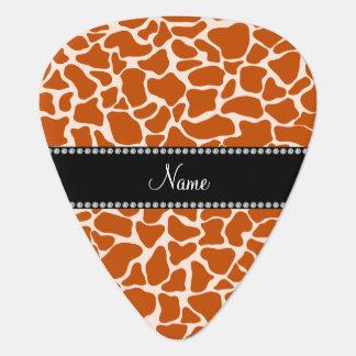 Médiators Motif orange nommé personnalisé de girafe