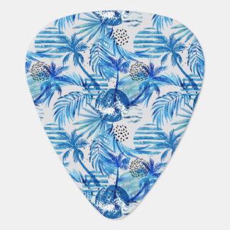 Médiators Motif tropical bleu lumineux d'aquarelle