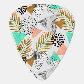 Médiators Motif tropical géométrique abstrait de feuille