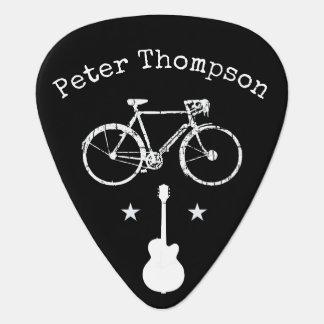 Médiators musique et bicyclette, noir personnalisé