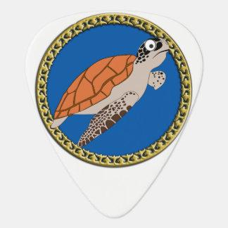 Médiators Natation orange de tortue de mer avec un cadre