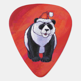Médiators Ours panda dans le casquette de Père Noël sur le