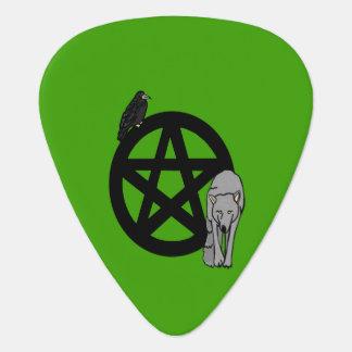 Médiators Pentagramme avec Raven et l'onglet de guitare de