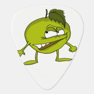 Médiators Personnage de dessin animé vert de pomme avec un