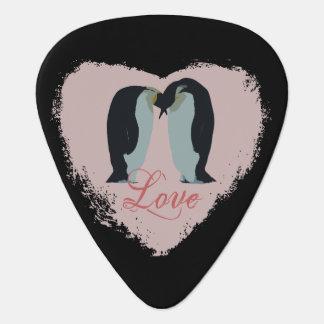 Médiators Pingouin de coeur d'amour