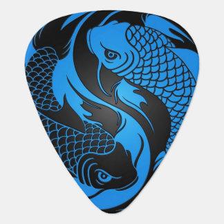 Médiators Poissons bleus et noirs de Yin Yang Koi