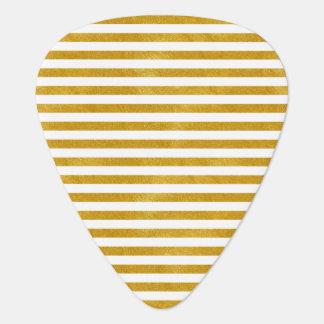 Médiators Rayure élégante d'or - coutume votre couleur