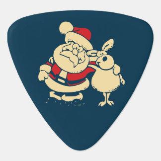 Médiators Rétro Noël Père Noël et son ami de renne