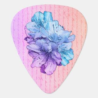 Médiators Sauvez l'illustration bleue de fleur de rose de