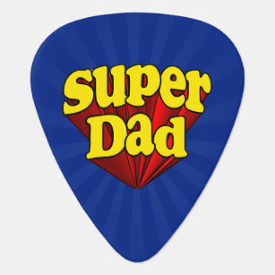 Médiators Super héros bleu jaune rouge de fête des pères de ec8d5cda1b7