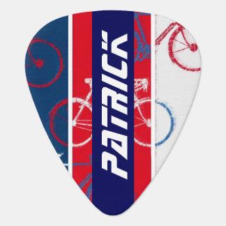 Médiators vélo inspiré avec le coutume-nom