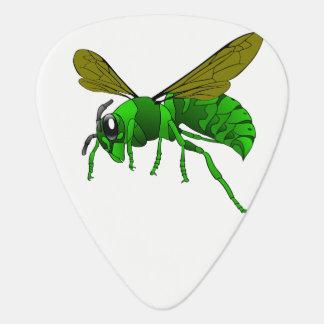Médiators Vert de bande dessinée et abeille de guêpe de