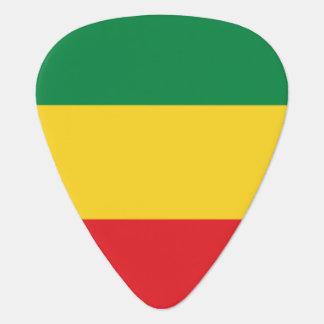 Médiators Vert, or (jaune) et drapeau de couleurs rouges