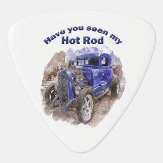 Médiators Vieux roadster vintage bleu avec le moteur