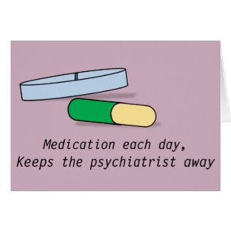 Médicament chaque carte de jour (psychiatre)