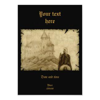 Médiéval Carton D'invitation 12,7 Cm X 17,78 Cm